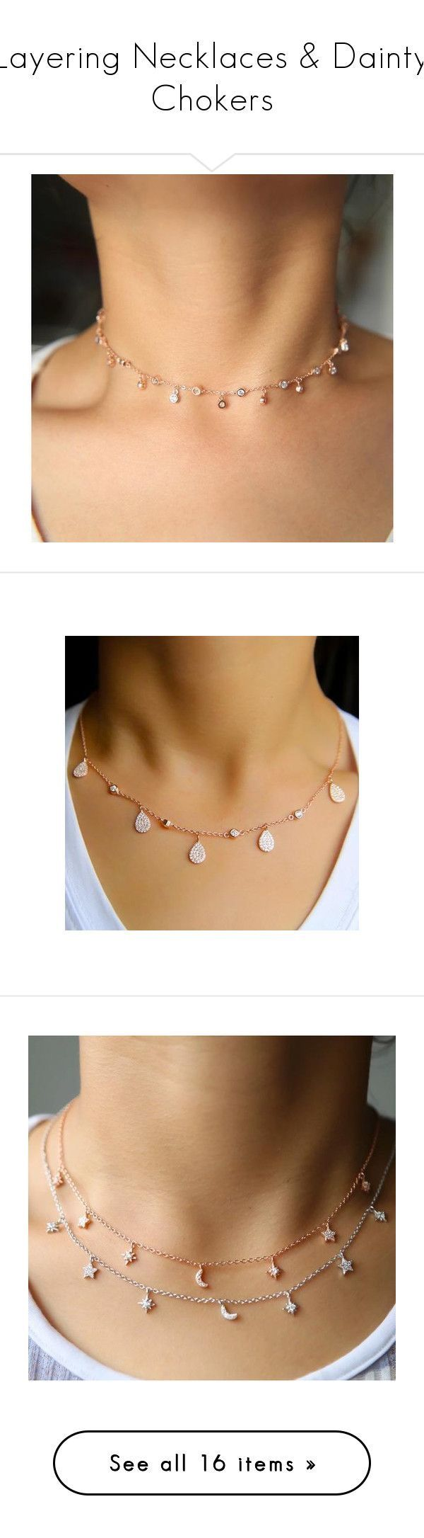 Layering Necklaces & Dainty Chokers featuring Body Kandy Couture on Polyvore. Delicate diamond Luna choker,dainty jewelry, necklace women's charm necklace, dangle charms, moon star jewelry necklace, diamond drop choker, double layer necklace, multi layer necklace,long chain necklaces gold bar necklace y necklace,lariat necklace. Jewelry gifts for women.