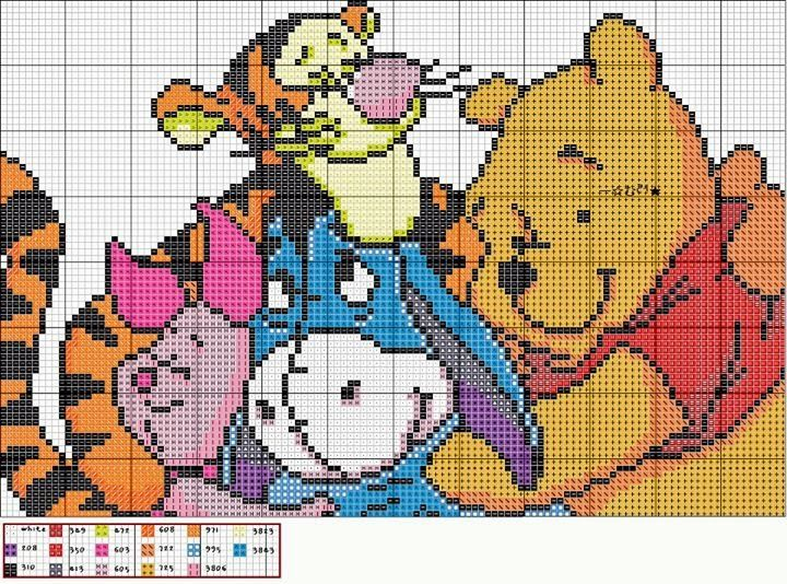 "Delicate Corner: Charts Cross Stitch ""Winnie the Pooh"""