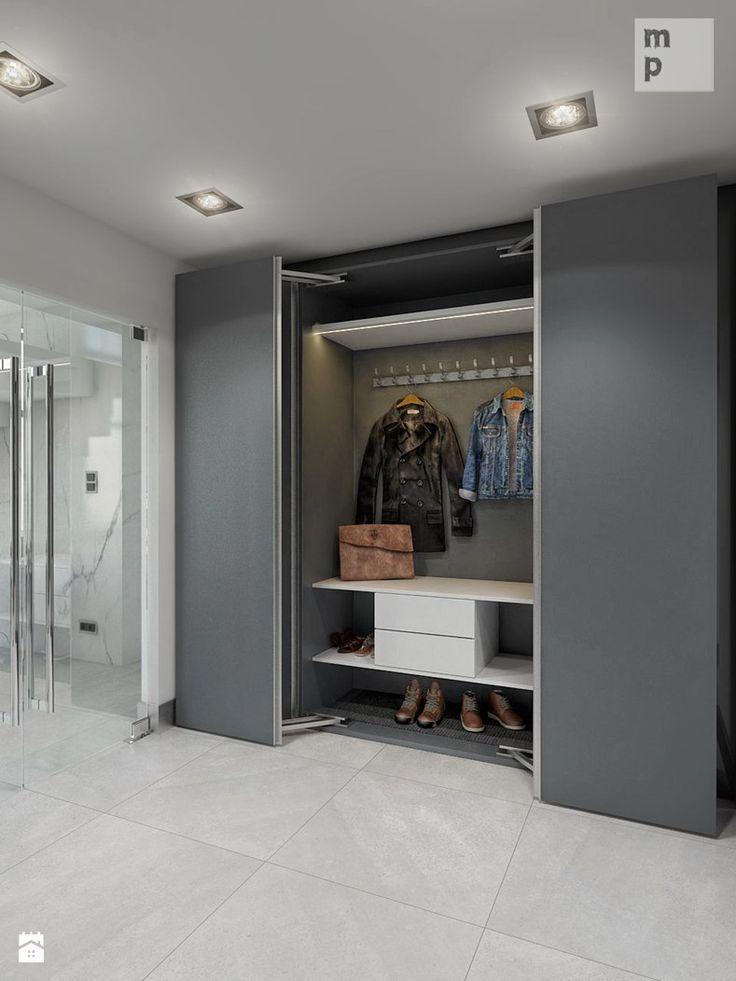 Hol / Przedpokój /Manufaktura Projektów: system drzwiowy