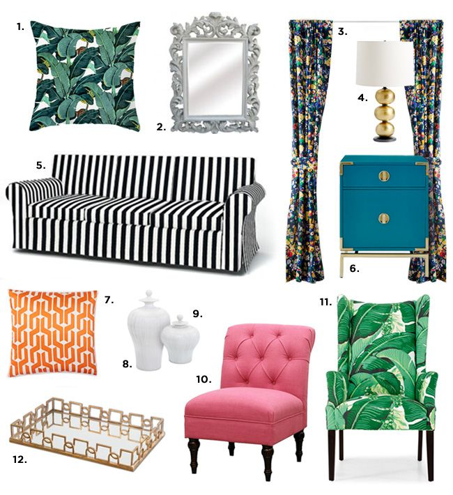 Design Style 101: Hollywood Regency | A Beautiful Mess | Bloglovin'