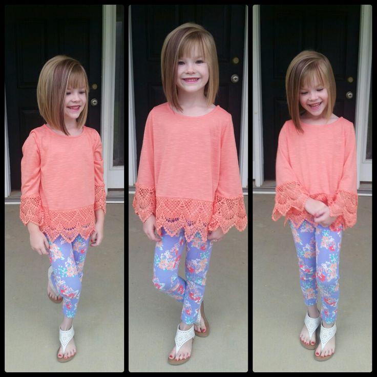 Little girl's bob hairstyle