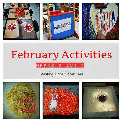 Teaching 2 and 3 Year Olds: February Activities