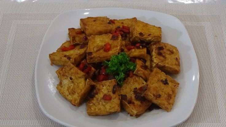 Sauteed Fried Tofu With Salted Duck Eggs