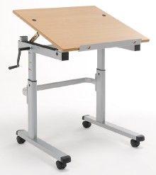 Tilting Top Height Adjule Table Range 560mm To