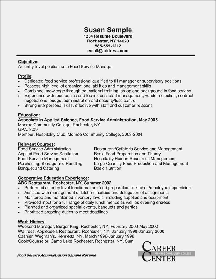 Catering Job Description for Resume Cool and Elegant 13