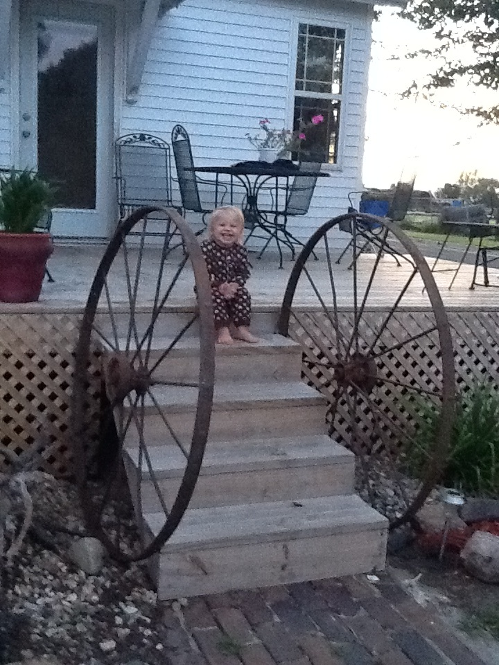 Iron Wagon Wheel Hand Railings Building Ideas