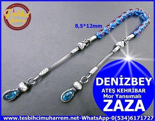 ZAZA TESBİH 8,5*12 mm ATEŞ KEHRİBAR DENİZBEY Ürün Kodu: TM5988