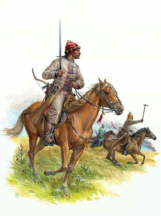 Light Cavalry Rider Khazar Khanate of Bulgaria and Alan family. The end of IX…
