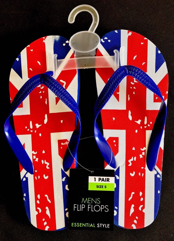 Union Jack Flip Flops Britain flag Essential Style Size S summer beach holiday