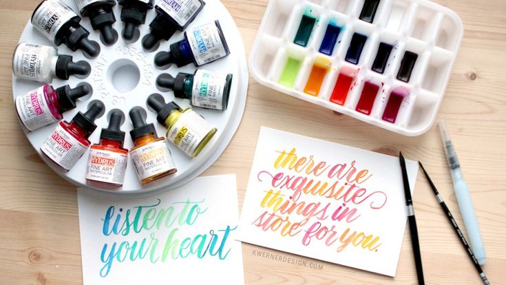 Dr. Ph. Martin's Hydrus Liquid Watercolor - DIY Palette & First Impressions