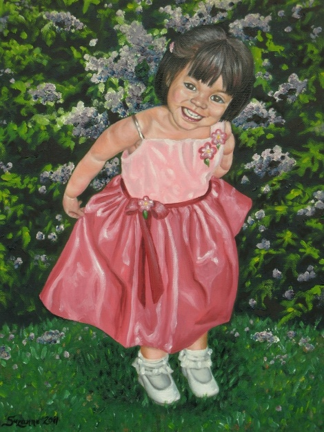 A portrait of my 2nd child  Medium: oil on canvas