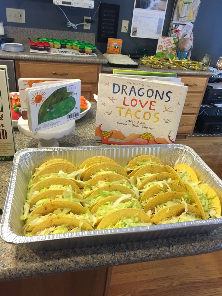 Tacos ready to eat for Dragon Loves Tacos