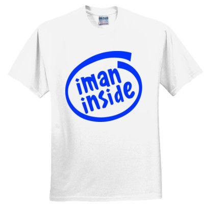 Iman Inside T-Shirt - Funny Muslim T-shirt