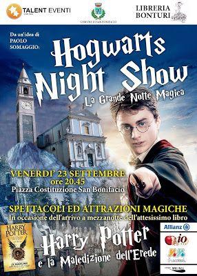 Harry Potter sta tornando! Il 24 settembre 2016 esce finalmente il nuovo libro. Ci saranno molti eventi per festeggiare il ritorno del maghetto...guardate questa iniziativa a Verona...