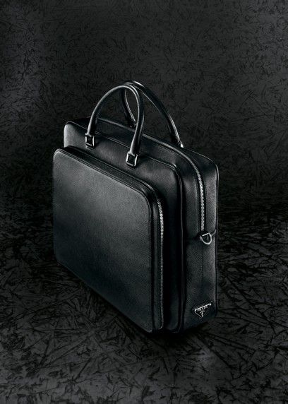 Gorgeous Prada Black Leather Briefcase | 5th at 58th