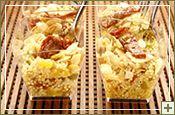 Bicchierini di Quinoa con Peperoni, Pomodori, Acciughe e Mandorle