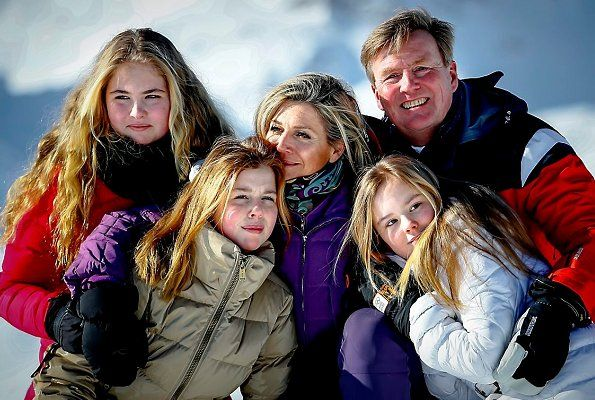 Dutch Royal Family holds 2018 winter photo session in Lech | Newmyroyals & Hollywood Fashion