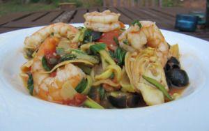 Greek Shrimp with Zucchini