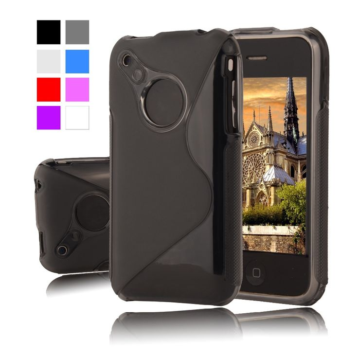 """For iPhone 3GS Fashion S LINE Silicone Soft Case For apple iphone 3 3G 3GS 3.5"""" Plastic Rubber Matte Cover Protective Phone Bag"""