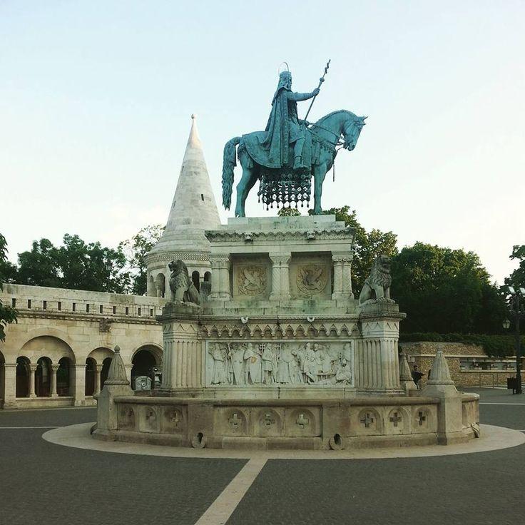 St. Stephen's statue near the Matthias Church.