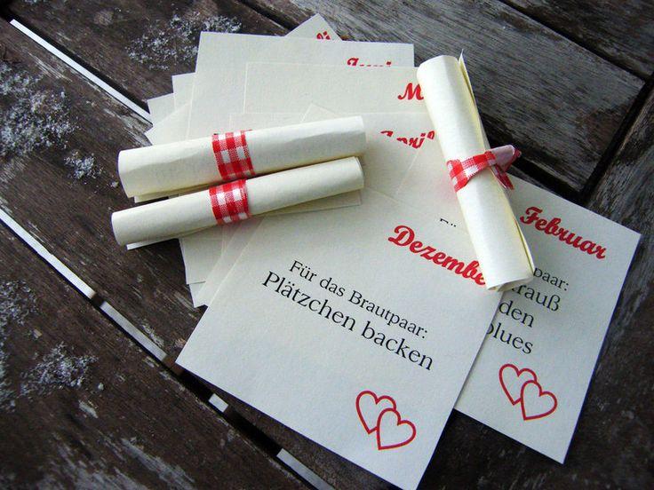 *12 Gutscheine zum Verwöhnen des Brautpaares 1 ganzes Jahr lang*    Wenn ihr noch ein tolles Geschenk für eine Hochz