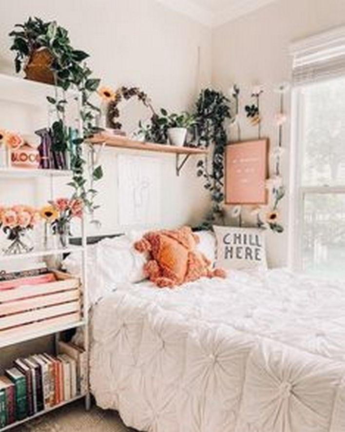 97 Amazing Beautiful Aesthetic Bedroom Dorm Room