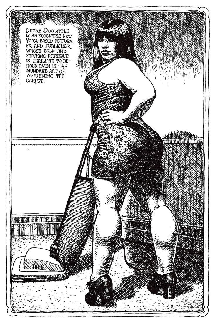 Modelling and texture by Robert Crumb
