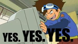 These Digimon Anime Memes are Super Funny: Yes. Yes. Yes. Digimon Meme