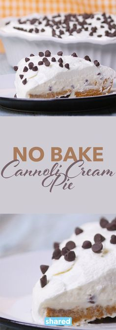 Who doesn't love a good cannoli? They are probably one of the most decadent and delicious desserts around and now with this No Bake Cannoli Cream Pie you can bring your favorite treat home.  It's the perfect treat after a long day that you definitely deserve. Give it a try and see just how amazing this dessert is!