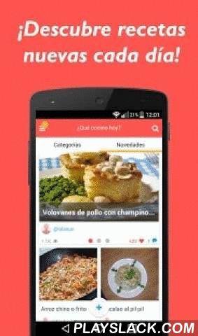 Que Cocino Hoy? Recetas Cocina  Android App - playslack.com ,  ¿Te gusta cocinar? Descubre más de 3.000 fantásticas recetas de cocina en laaplicación gratis ¿Qué cocino hoy? para dispositivos Android (2.3+). La mayoría derecetas incluidas son muy fáciles de elaborar ya que cuentan con fotos y videorecetasque explican paso a paso la preparación.🍴🍝 🍩La aplicación ofrece tres tipos de búsquedas: título, ingredientes (para saber quépuedes cocinar con los ingredientes de los que…