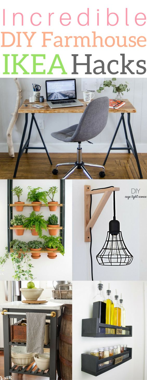 Incredible diy farmhouse IKEA hacks bedroom storage desk dresser lamp kitchen of…