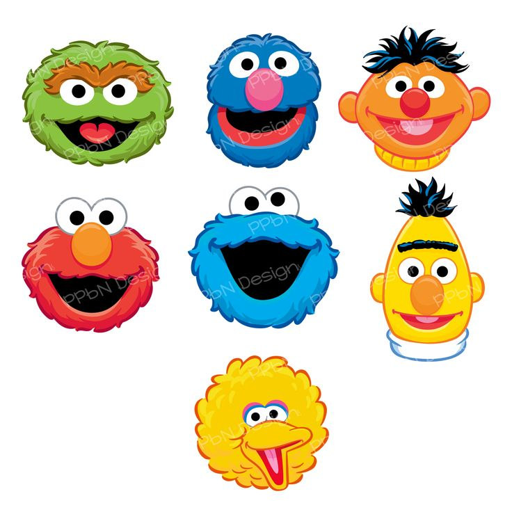 Adorable image throughout printable sesame street characters