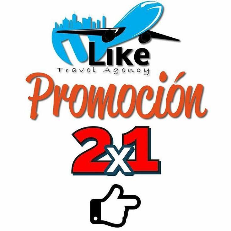 Conoce nuestras promociones en #2x1 que tenemos para ti  uliketravel #business #viajes #trip #travel #vacaciones #flight #mexico #argentina #colombia #ecuador #venezuela #alojamiento #summer #turismo #turist #internacional #destinos #rio info@uliketravelagency.com.ve 0414-8514039 0295-2677002 http://tipsrazzi.com/ipost/1508097688061625346/?code=BTt1ttngEQC