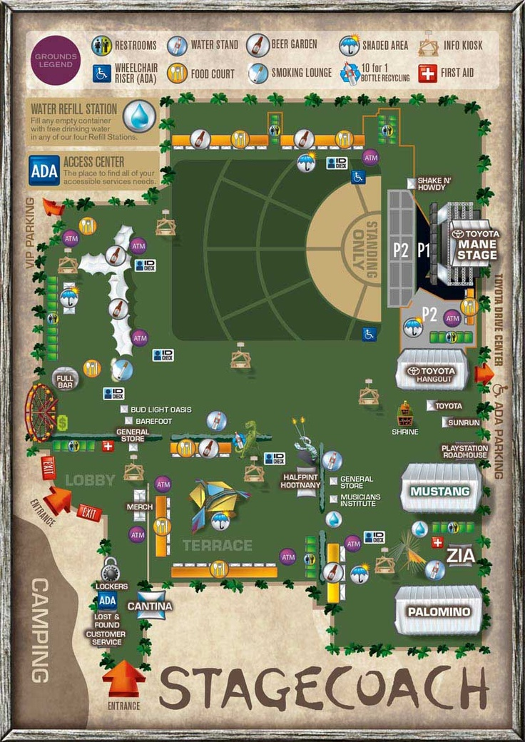 StageCoach Festival Venue Event map for mobile