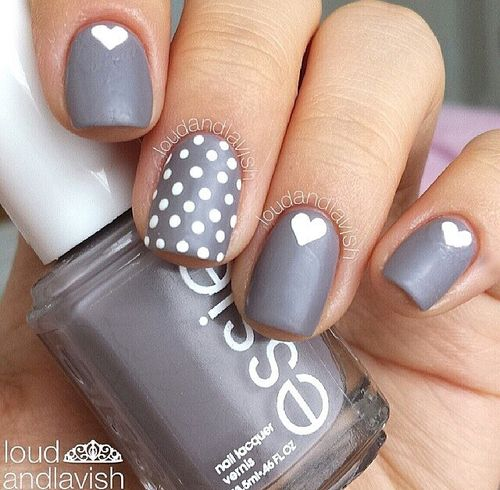 Love the grey and white combo and matte effect
