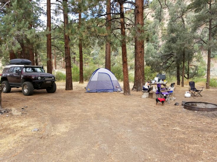Barney Riley Trail Base Camp with Cookie.