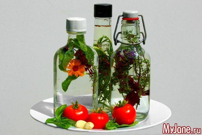 Готовим пряный уксус - уксус, ароматический уксус, пряные травы, полезные…