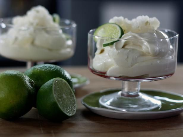 Get Lime Mousse Cups Recipe from Cooking Channel