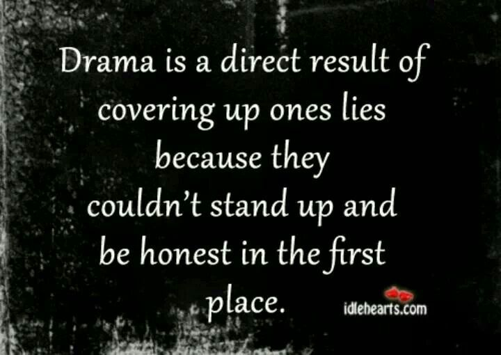 Drama, lies and hidden truths. What a sad way to force your children into living