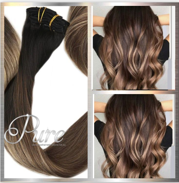 Brown Ombre Weft Hair Extensions