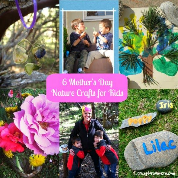 When it comes to Mother's Day, I love helping the kids create something extra special for their grandmas. Here are a few Mother's Day nature crafts just right for kids.
