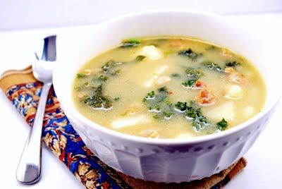 Add 1/2 t oregano, cream, saute onions, fresh garlic instead of powdered, use spinach instead of kale