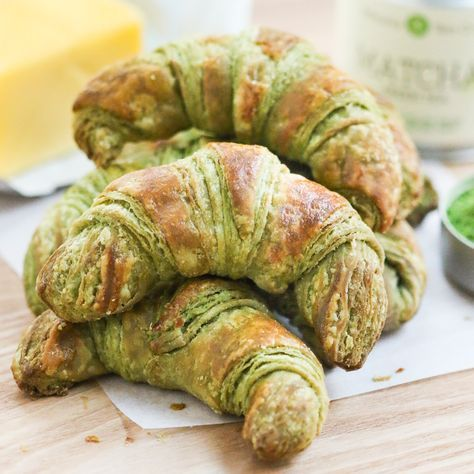 Thirsty For Tea - Matcha Croissants. Whoa. Must try. Marco won't like them....but I care not.