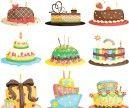 Cartoon cupcakes vector | Vector Graphics Blog