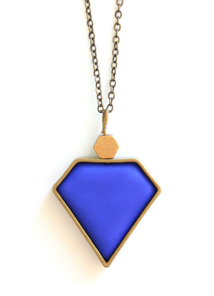 Blue Diamond Pendant www.cloudninecreative.co.nz