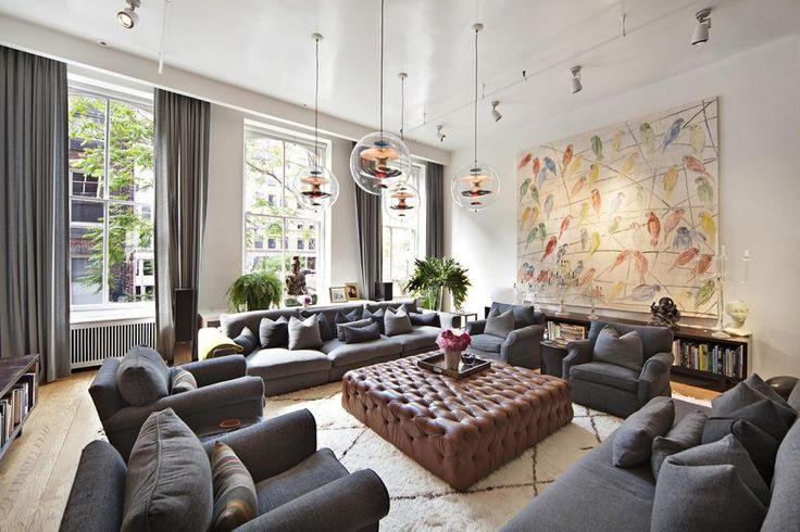 On The Market: A Fashion Designeru0027s Bright SoHo Home | Denim Sofa, Cozy  Living Rooms And Cozy Living