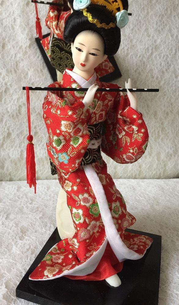 A Very Traditional Japanese Kimono Doll By Handmade,Boxed | eBay