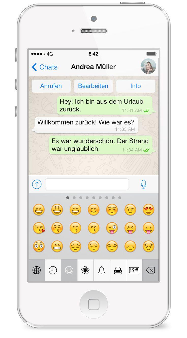 WhatsApp FAQ - Wie verwende ich Emoticons und Smileys?