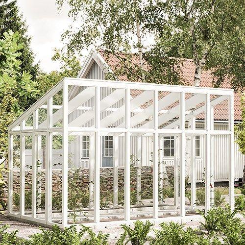 Knoppa 13,2 m² Hybridrum med pulpettak från skånskabyggvaror.se