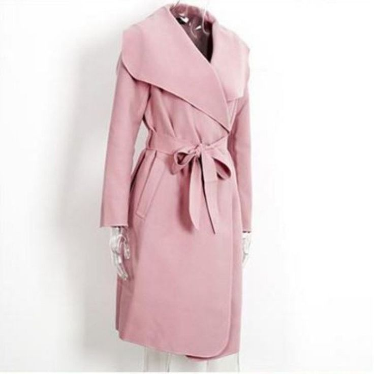 FASHION BEIGE PINK GRAY COAT